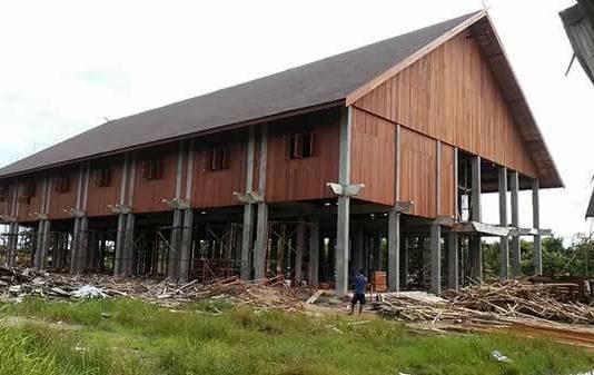 Rumah Betang. Foto dok : IST/Andoyo