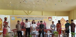 Debat calon Ketua & Wakil Ketua OSIS SMK SANTO PETRUS Ketapang (Foto : IST)