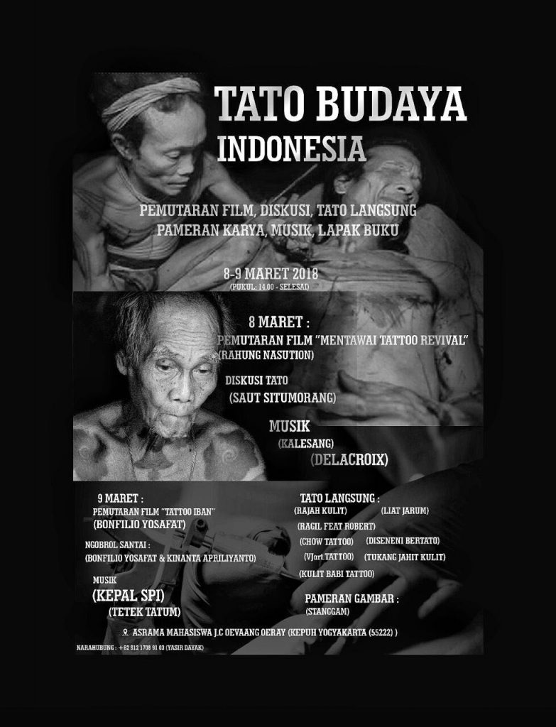 Poster Acara Tato Budaya Indonesia. Aldo, Monga.id