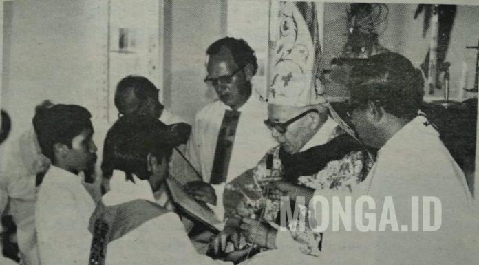 Pastor Z. Lintas Pr., merupakan pastor asli putra Dayak pertama yang ditahbiskan. IST/MONGA.ID