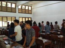 Peserta pelatihan jurnalistik tingkat dasar Sabtu (1/4/ 2018), bertempat di Universitas Sanata Dharma Yogyakarta. (Foto: IST)