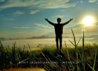 Pesona Puncak Bukit Lalang, Kecamatan Pemahan Kabupaten Ketapang di waktu sunrise dan sunset (Foto: IST/ALWI)