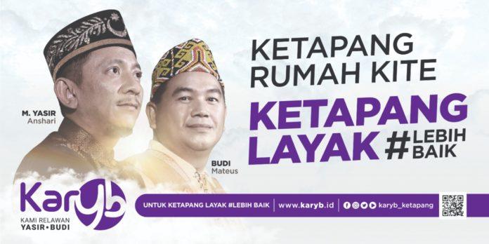 Yasir - Budi, Calon Bupati dan Wakil Bupati Ketapang dari jalur perseorangan siap menerima mandat dari KARYB (Foto : IST)